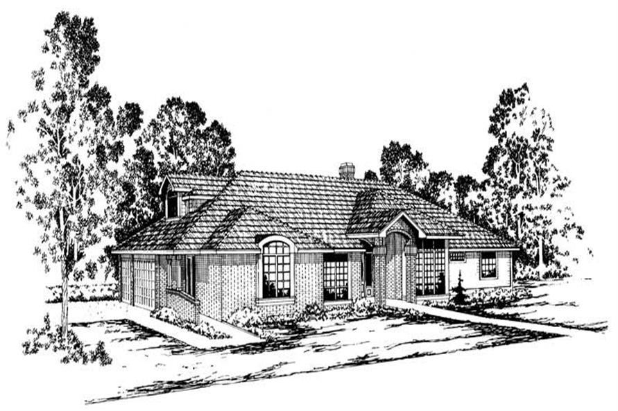 Ainsley Main Elevation of this 3-Bedroom,2950 Sq Ft Plan -2950