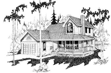 3-Bedroom, 2202 Sq Ft Country House Plan - 108-1394 - Front Exterior