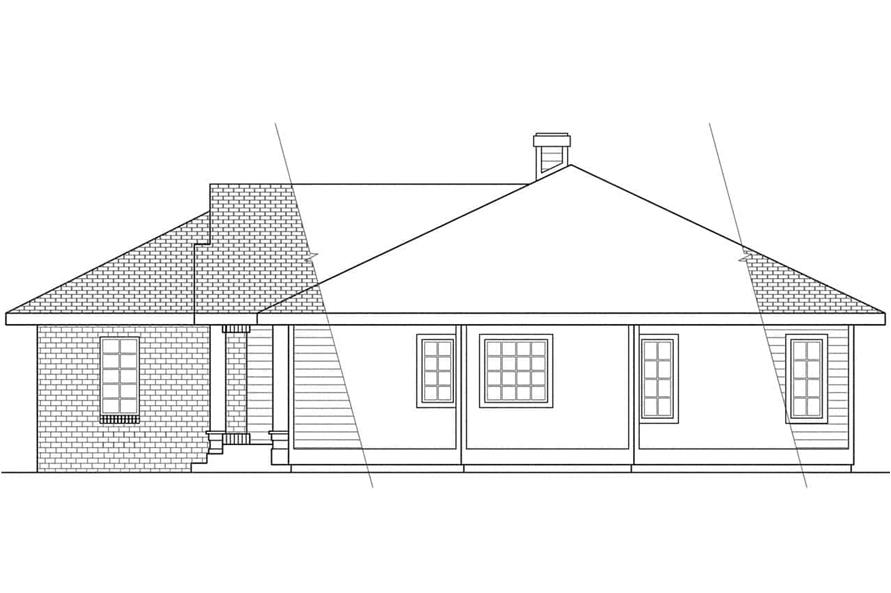 Home Plan Right Elevation of this 3-Bedroom,2022 Sq Ft Plan -108-1395