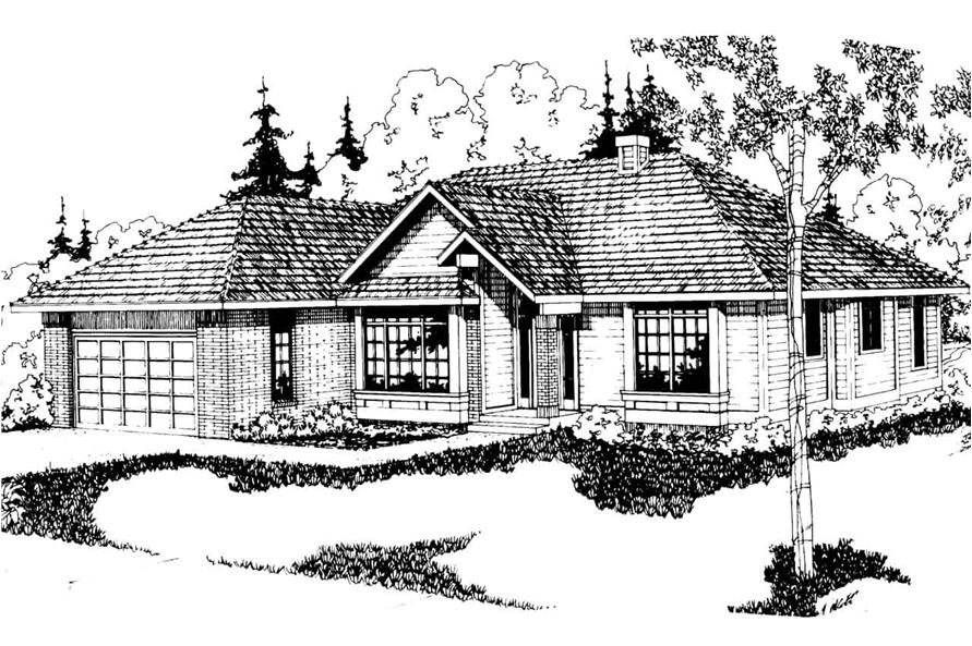 3-Bedroom, 2022 Sq Ft Ranch House - Plan #108-1395 - Front Exterior