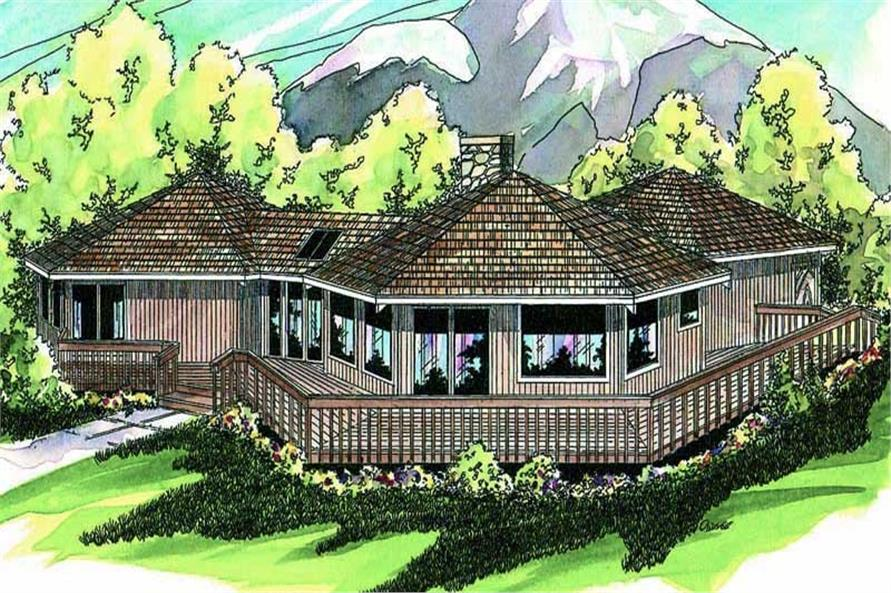 Home Plan Rendering of this 3-Bedroom,1986 Sq Ft Plan -108-1398