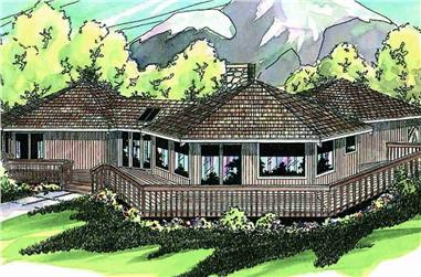 3-Bedroom, 1986 Sq Ft Contemporary House - #108-1398 - Front Exterior