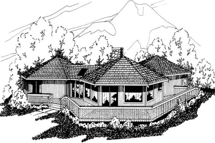 Home Plan Rendering of this 3-Bedroom,1986 Sq Ft Plan -1986