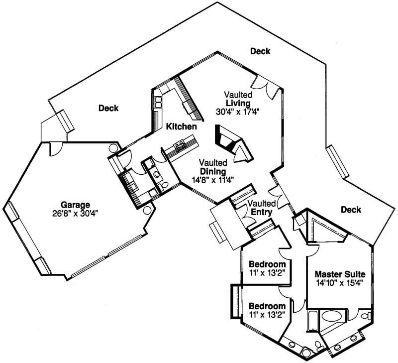 Floor Plan First Story for this set of house plans.