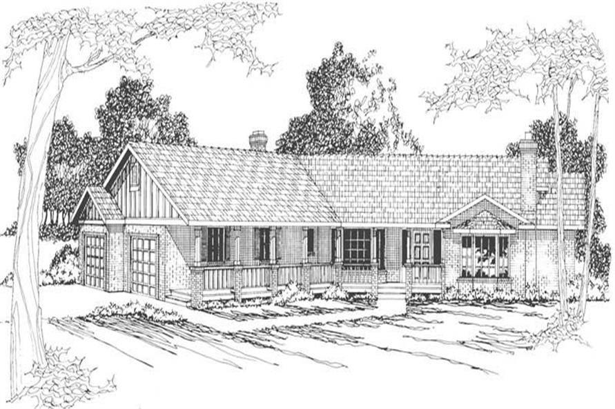 4-Bedroom, 2568 Sq Ft Country House Plan - 108-1400 - Front Exterior