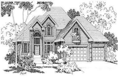 3-Bedroom, 3727 Sq Ft House Plan - 108-1401 - Front Exterior