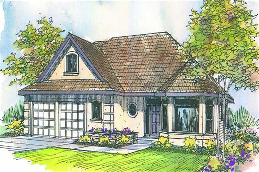 3-Bedroom, 2130 Sq Ft Contemporary House Plan - 108-1402 - Front Exterior