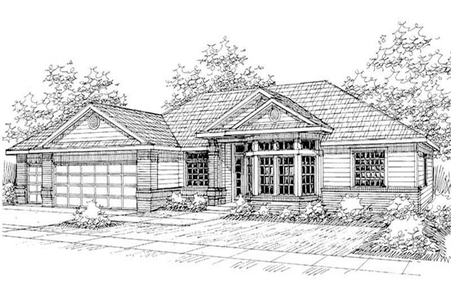 Main image for house plan # 3077