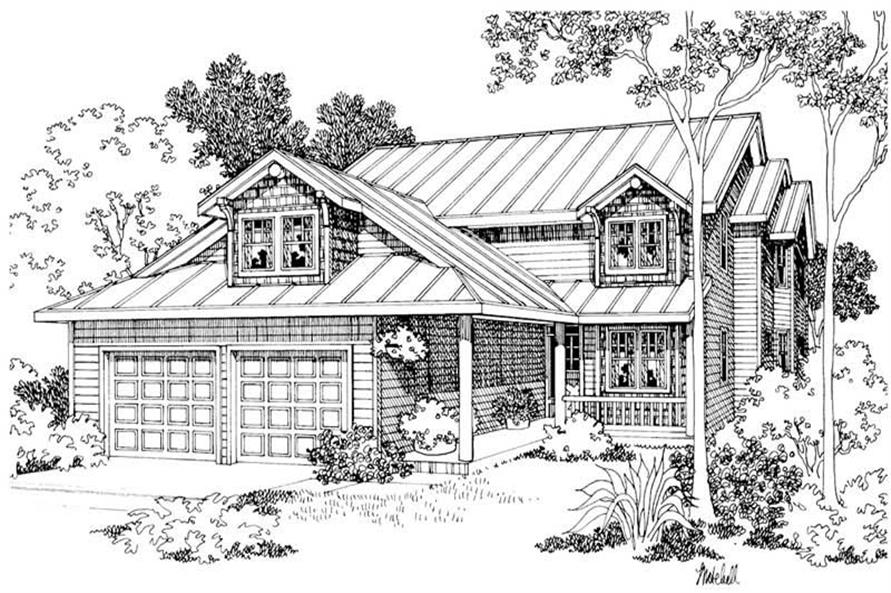 4-Bedroom, 2704 Sq Ft Country House Plan - 108-1404 - Front Exterior
