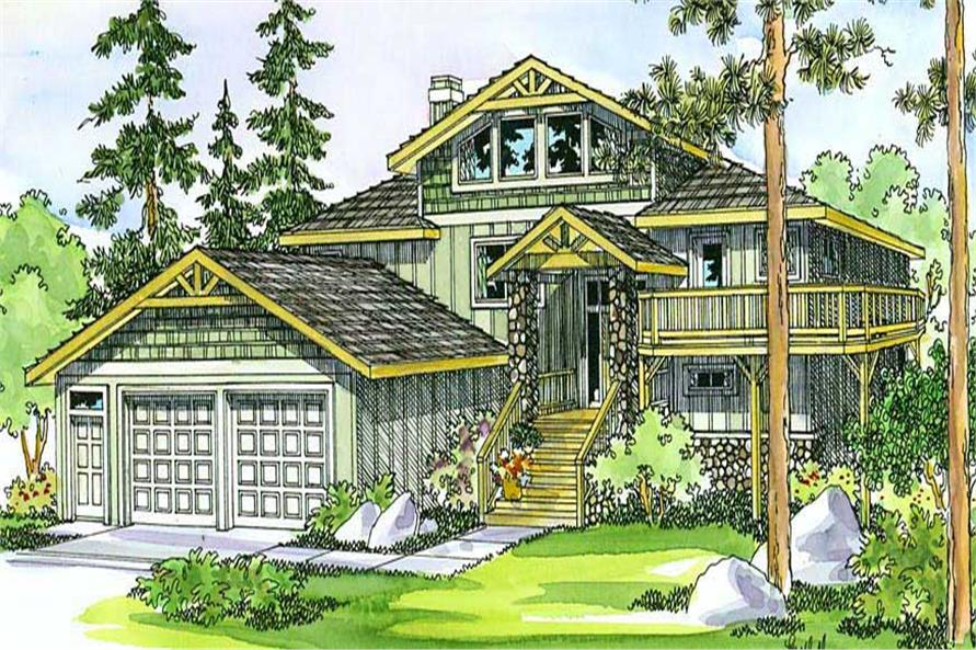 5-Bedroom, 3141 Sq Ft Multi-Level House Plan - 108-1406 - Front Exterior