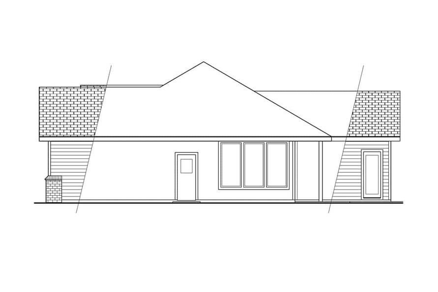 Home Plan Right Elevation of this 5-Bedroom,3141 Sq Ft Plan -108-1406