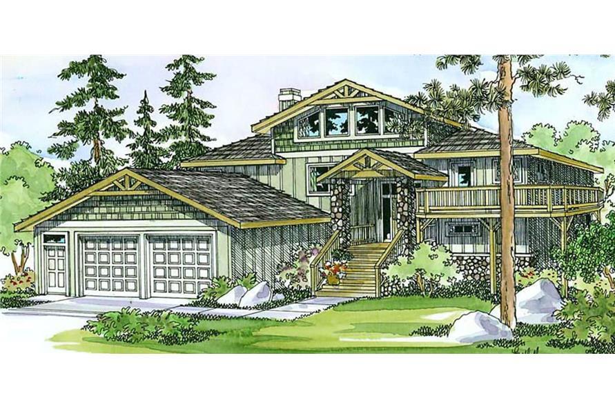 5-Bedroom, 3141 Sq Ft Multi-Level Home - Plan #108-1406 - Main Exterior