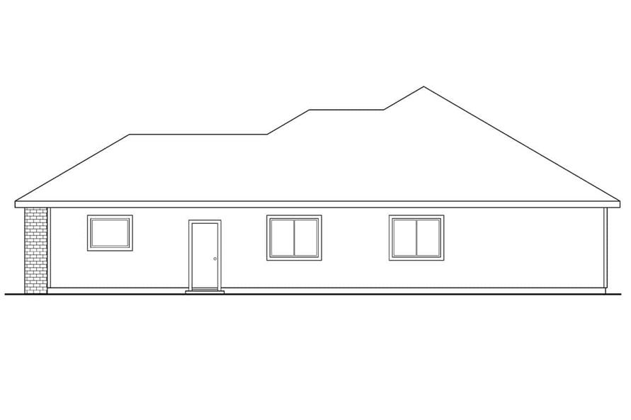 Home Plan Right Elevation of this 3-Bedroom,1348 Sq Ft Plan -108-1407