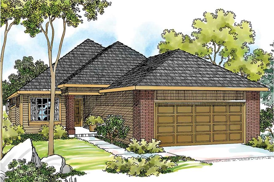 3-Bedroom, 1348 Sq Ft Ranch House - Plan #108-1407 - Front Exterior
