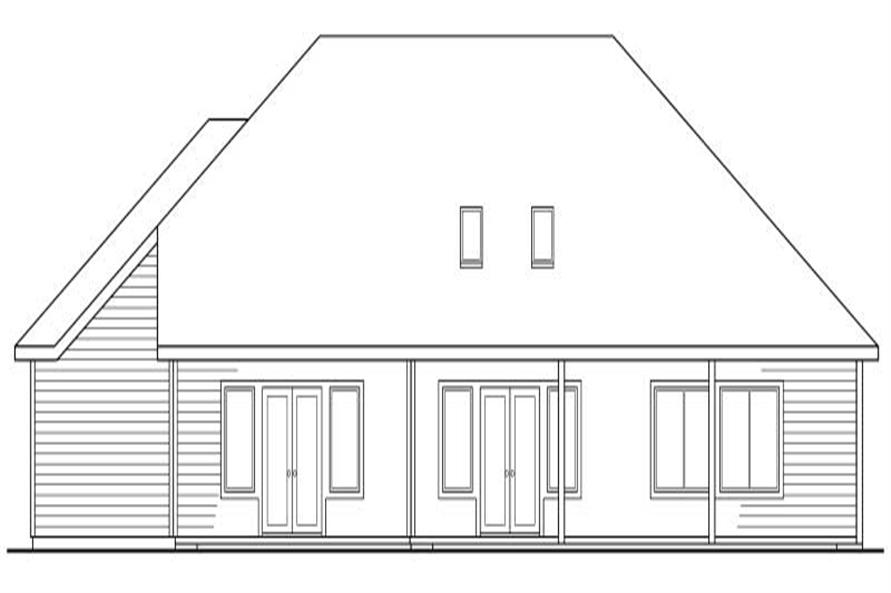 Home Plan Rear Elevation of this 3-Bedroom,2274 Sq Ft Plan -108-1409