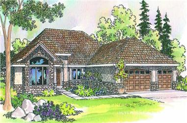 3-Bedroom, 2274 Sq Ft Contemporary House Plan - 108-1409 - Front Exterior