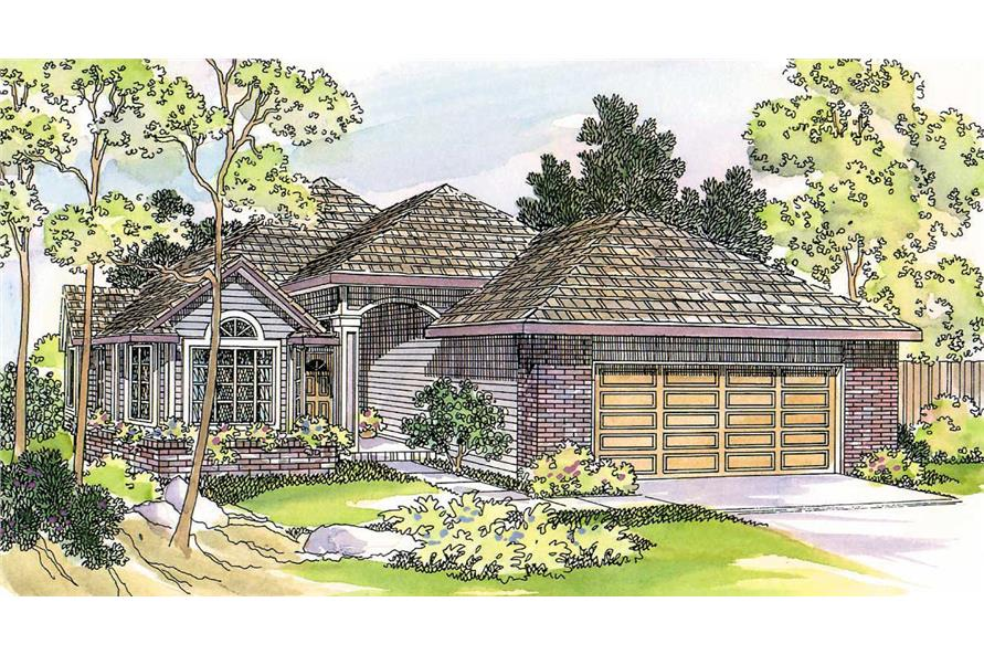 3-Bedroom, 1743 Sq Ft Small House Plans - 108-1410 - Front Exterior