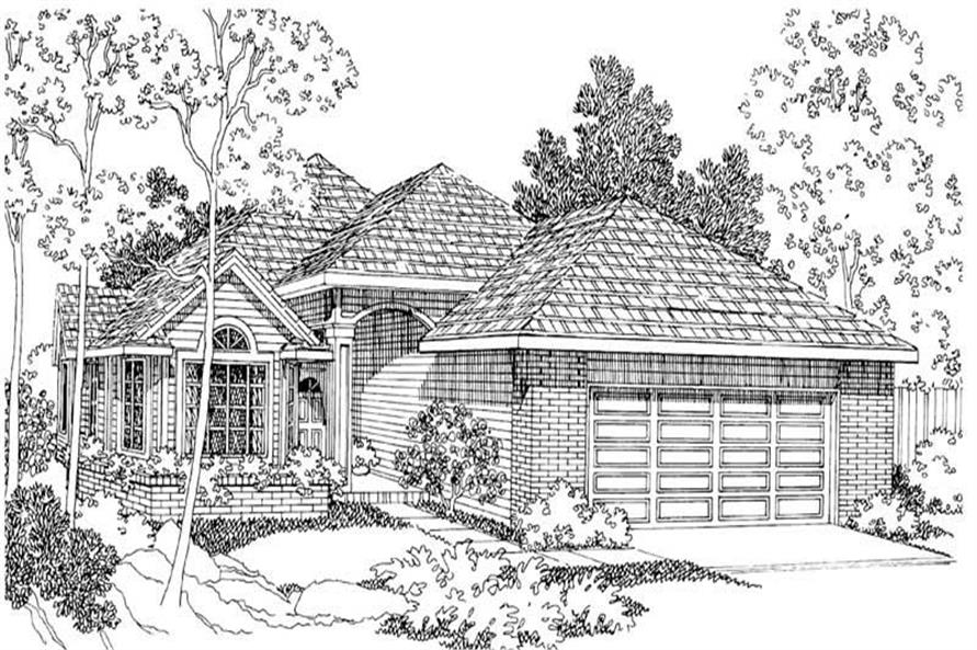 Home Plan Rendering of this 3-Bedroom,1743 Sq Ft Plan -1743