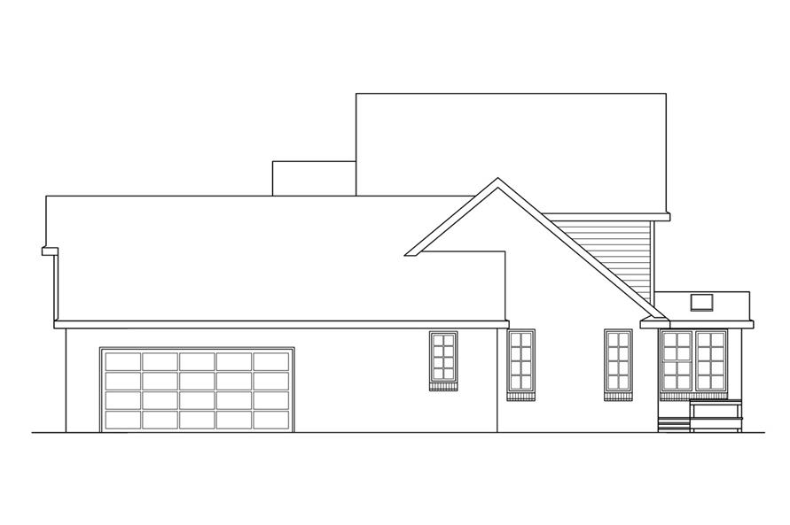 108-1411: Home Plan Right Elevation