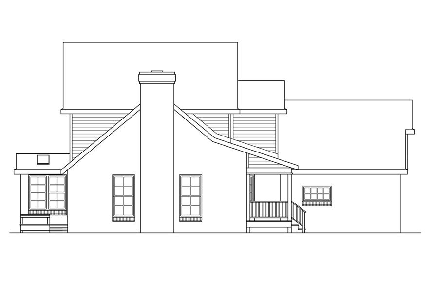108-1411: Home Plan Left Elevation