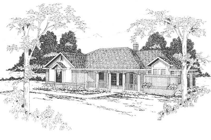 3-Bedroom, 2071 Sq Ft Ranch House Plan - 108-1413 - Front Exterior