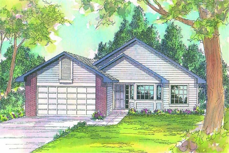 3-Bedroom, 1415 Sq Ft Small House Plans - 108-1418 - Front Exterior