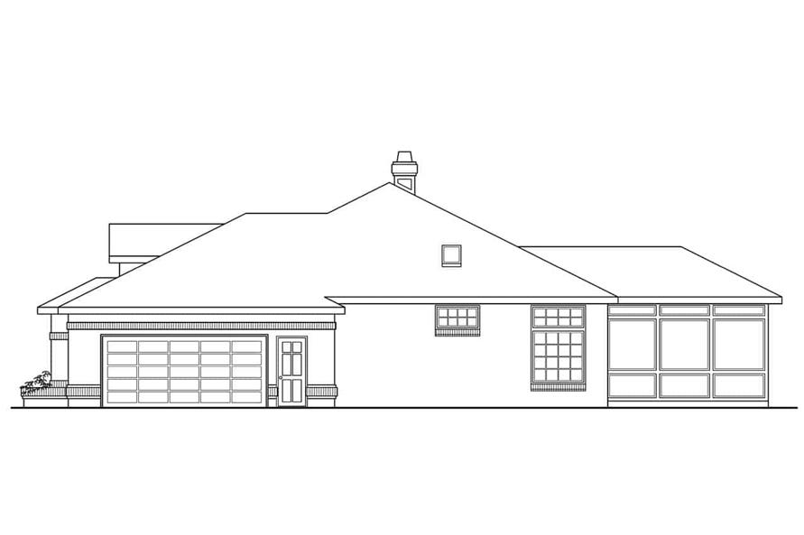 Home Plan Right Elevation of this 4-Bedroom,2525 Sq Ft Plan -108-1419
