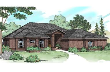 4-Bedroom, 2525 Sq Ft Ranch House - Plan #108-1419 - Front Exterior