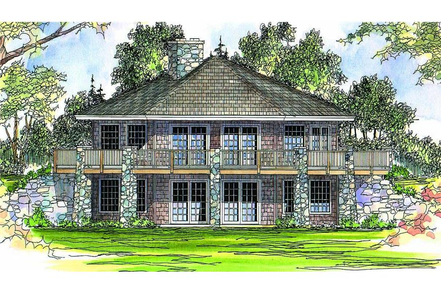 Front elevation of Bungalow home (ThePlanCollection: House Plan #108-1421)