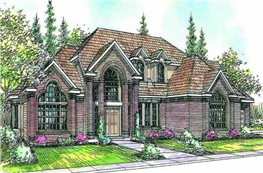 4-Bedroom, 3959 Sq Ft Contemporary House Plan - 108-1424 - Front Exterior