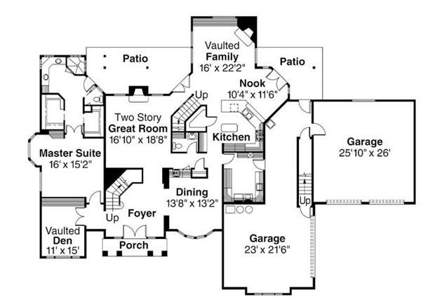 First Floor Floor Plan for Aroland