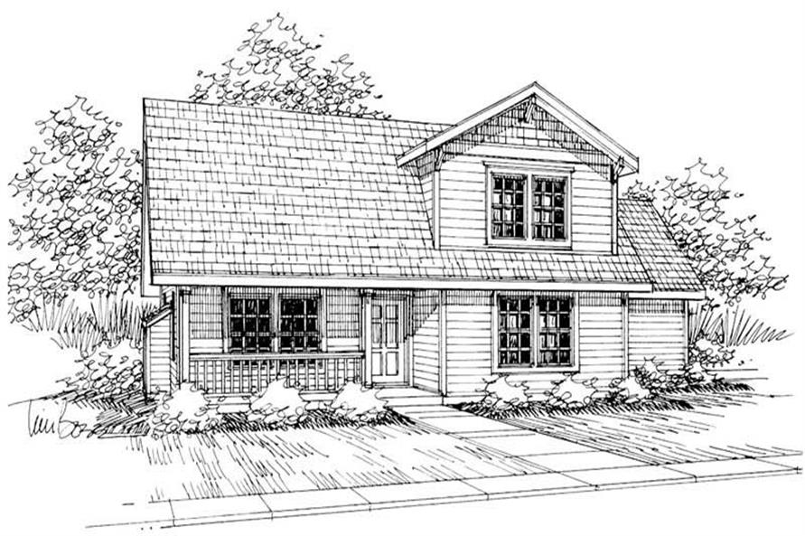 3-Bedroom, 1333 Sq Ft Country Home Plan - 108-1425 - Main Exterior