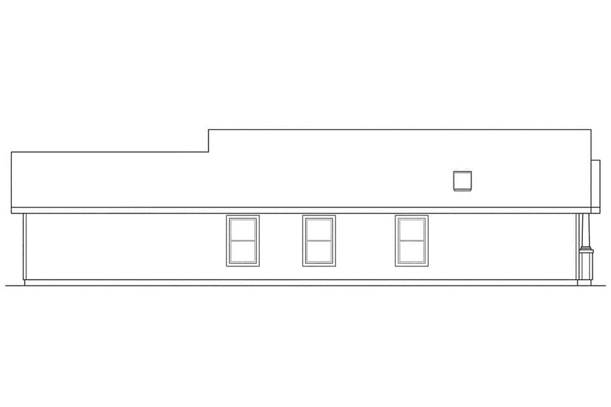 Home Plan Left Elevation of this 3-Bedroom,1242 Sq Ft Plan -108-1426