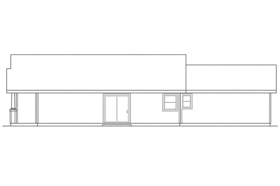 Home Plan Right Elevation of this 3-Bedroom,1242 Sq Ft Plan -108-1426