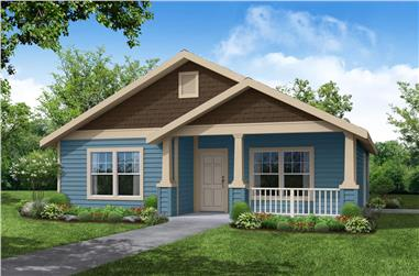 3-Bedroom, 1242 Sq Ft Craftsman House - Plan #108-1426 - Front Exterior