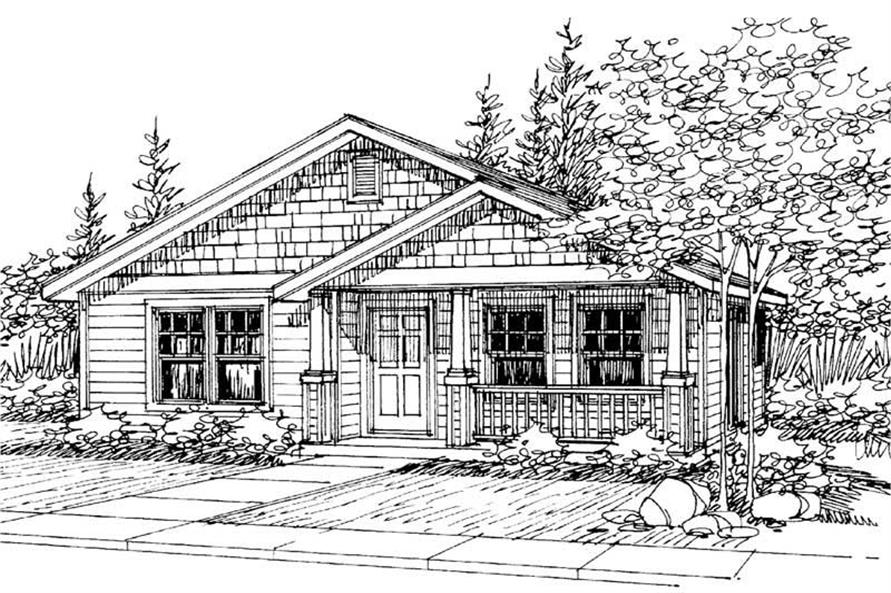 3-Bedroom, 1242 Sq Ft Craftsman Home Plan - 108-1426 - Main Exterior
