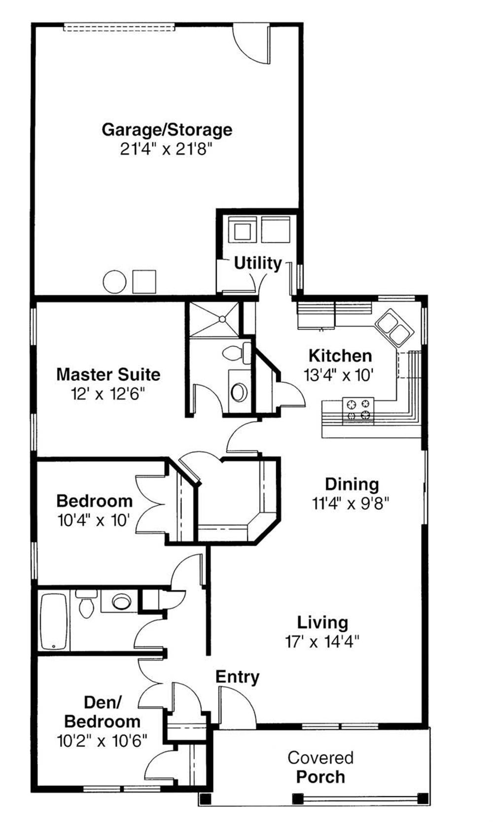 First Floor Floor Plan for Cleveland