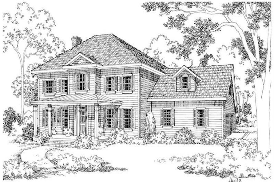Home Plan Rendering of this 4-Bedroom,2304 Sq Ft Plan -2304