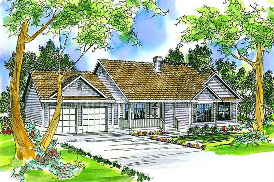 3-Bedroom, 1683 Sq Ft Country Home Plan - 108-1430 - Main Exterior