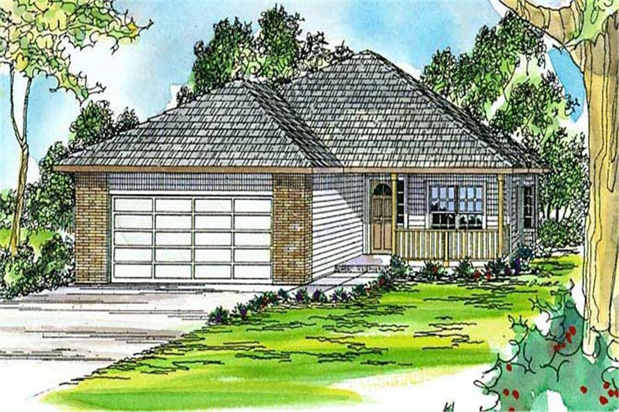 3-Bedroom, 1632 Sq Ft Country House Plan - 108-1432 - Front Exterior