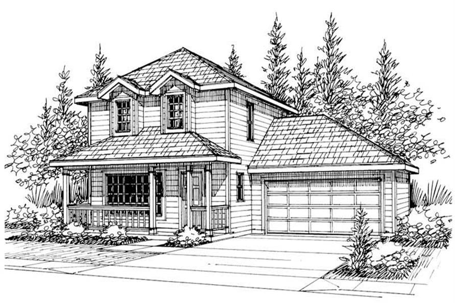 3-Bedroom, 1521 Sq Ft Country House Plan - 108-1434 - Front Exterior