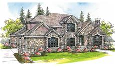 This image shows the European Style of this set of house plans.