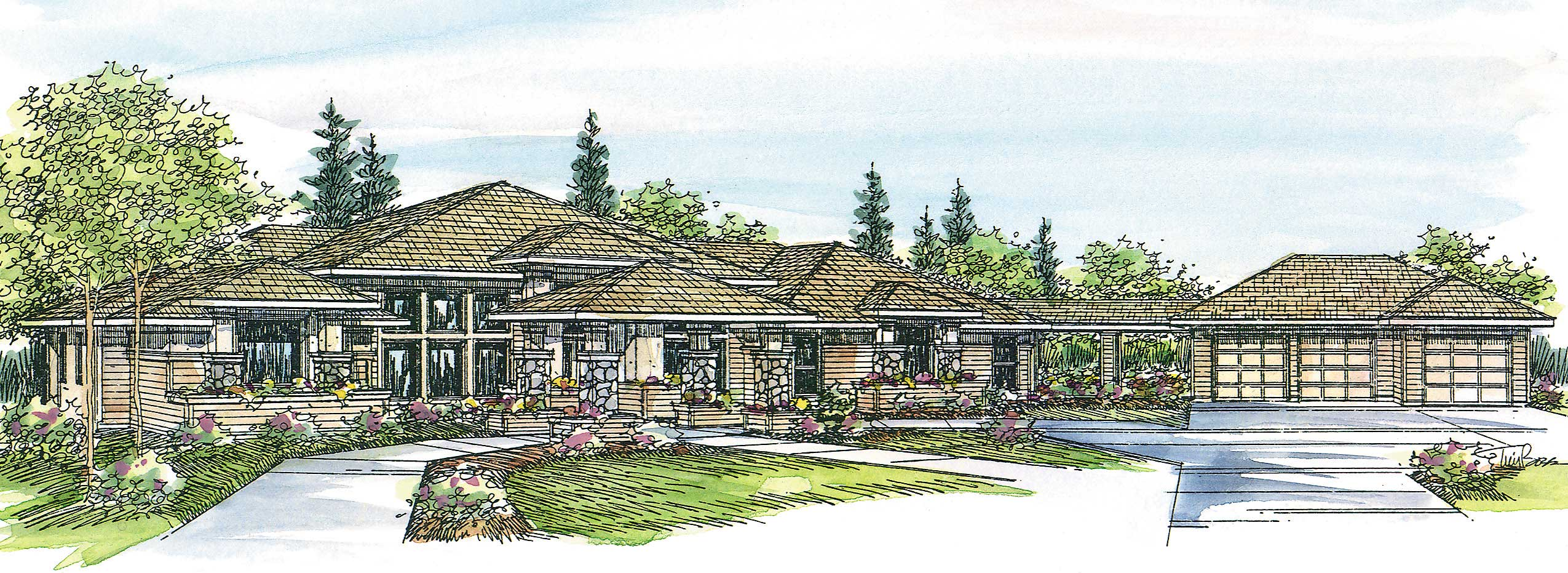 Contemporary Home with 3 Bdrms, 3065 Sq Ft | Floor Plan #108-1438