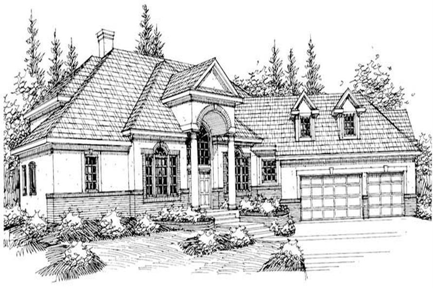 3-Bedroom, 4005 Sq Ft Contemporary House Plan - 108-1443 - Front Exterior