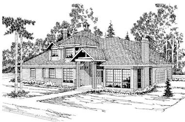 4-Bedroom, 3997 Sq Ft Contemporary House Plan - 108-1444 - Front Exterior