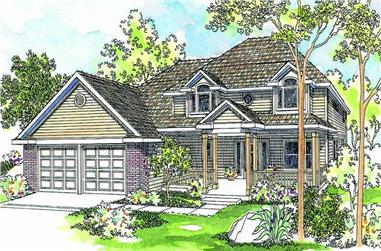 3-Bedroom, 2296 Sq Ft Country House Plan - 108-1445 - Front Exterior
