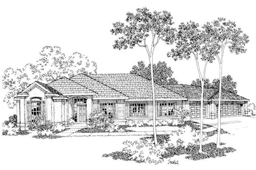 Main image for house plan # 3070