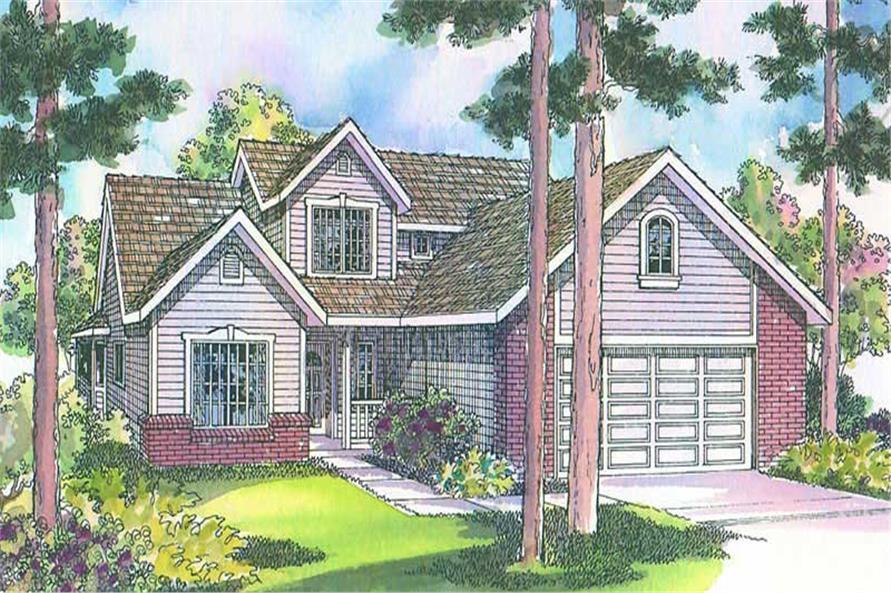 Home Plan Front Elevation of this 3-Bedroom,1914 Sq Ft Plan -108-1447