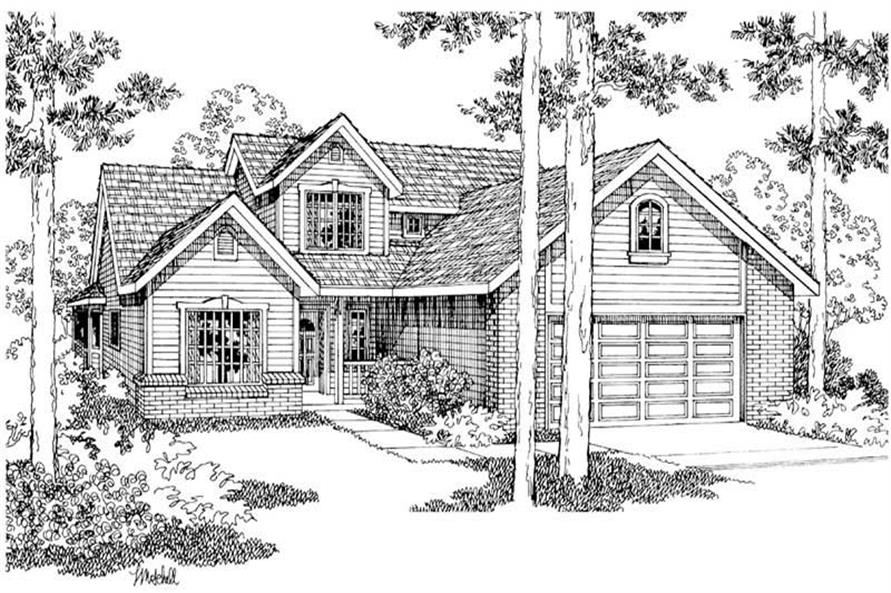 Home Plan Rendering of this 3-Bedroom,1914 Sq Ft Plan -108-1447