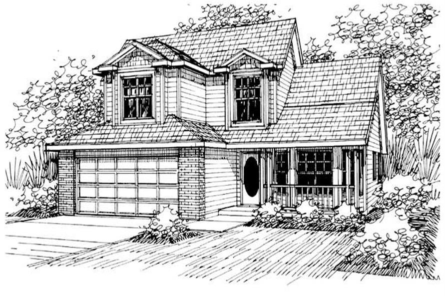 3-Bedroom, 2007 Sq Ft Country House Plan - 108-1448 - Front Exterior